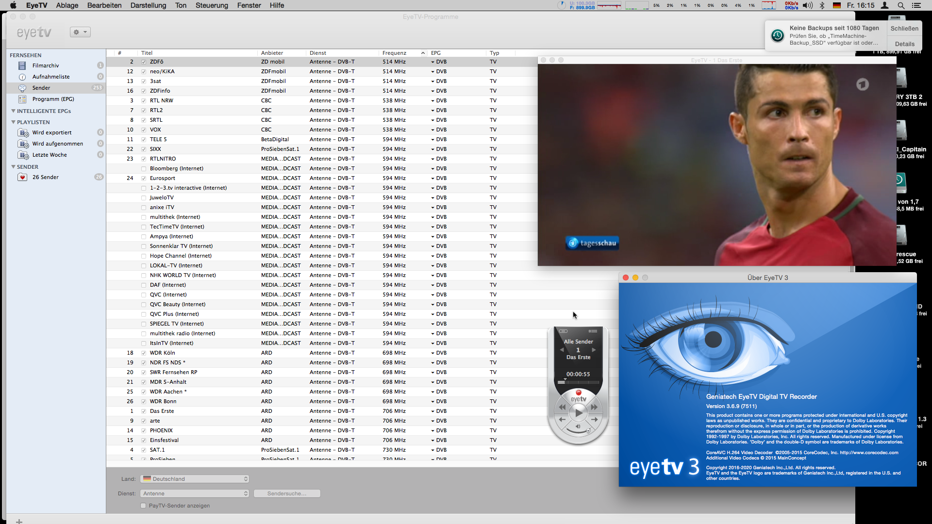 MacOS Sierra DP1 and EyeTV with EyeTV Hybrid - Discussions